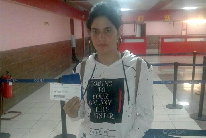 Sissi Abascal, una de las activistas a las que el régimen impidió viajar.