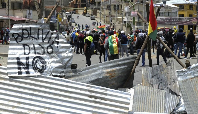 Protestas por la reelección de Evo Morales.