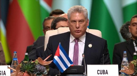 Díaz-Canel durante su intervención.