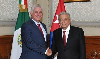 Díaz-Canel y López Obrador.