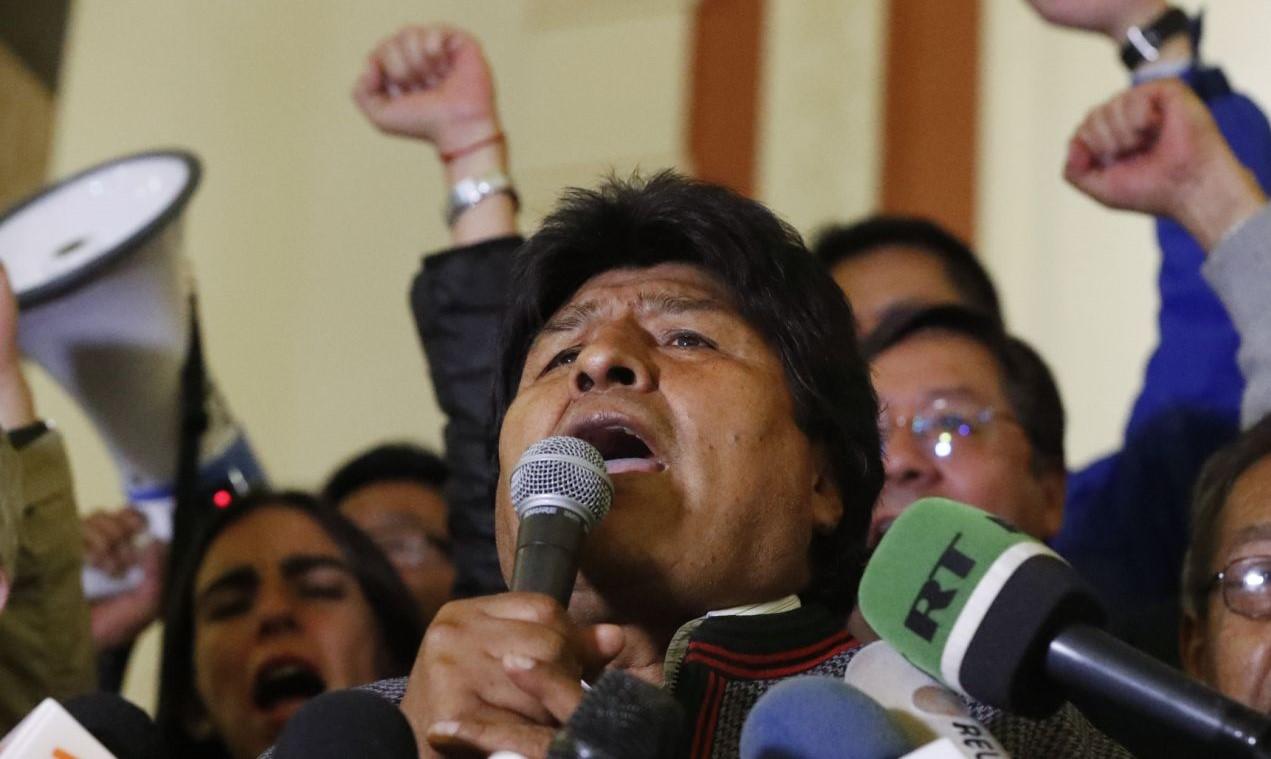Evo Morales el domingo.