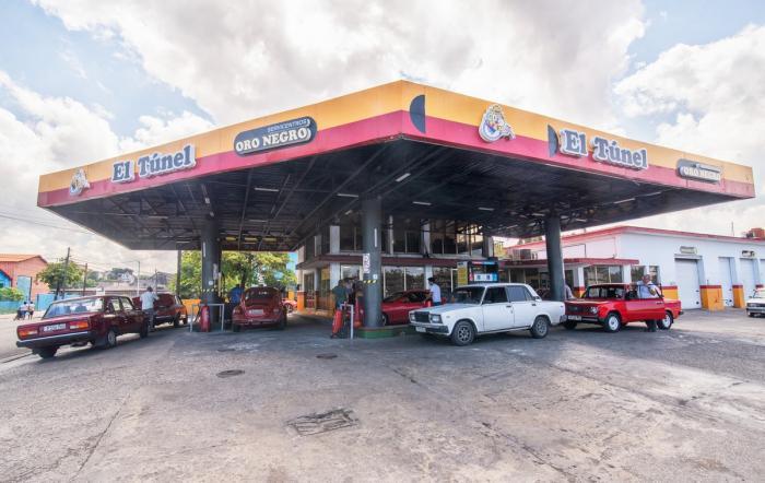 Gasolinera Oro Negro en La Habana.