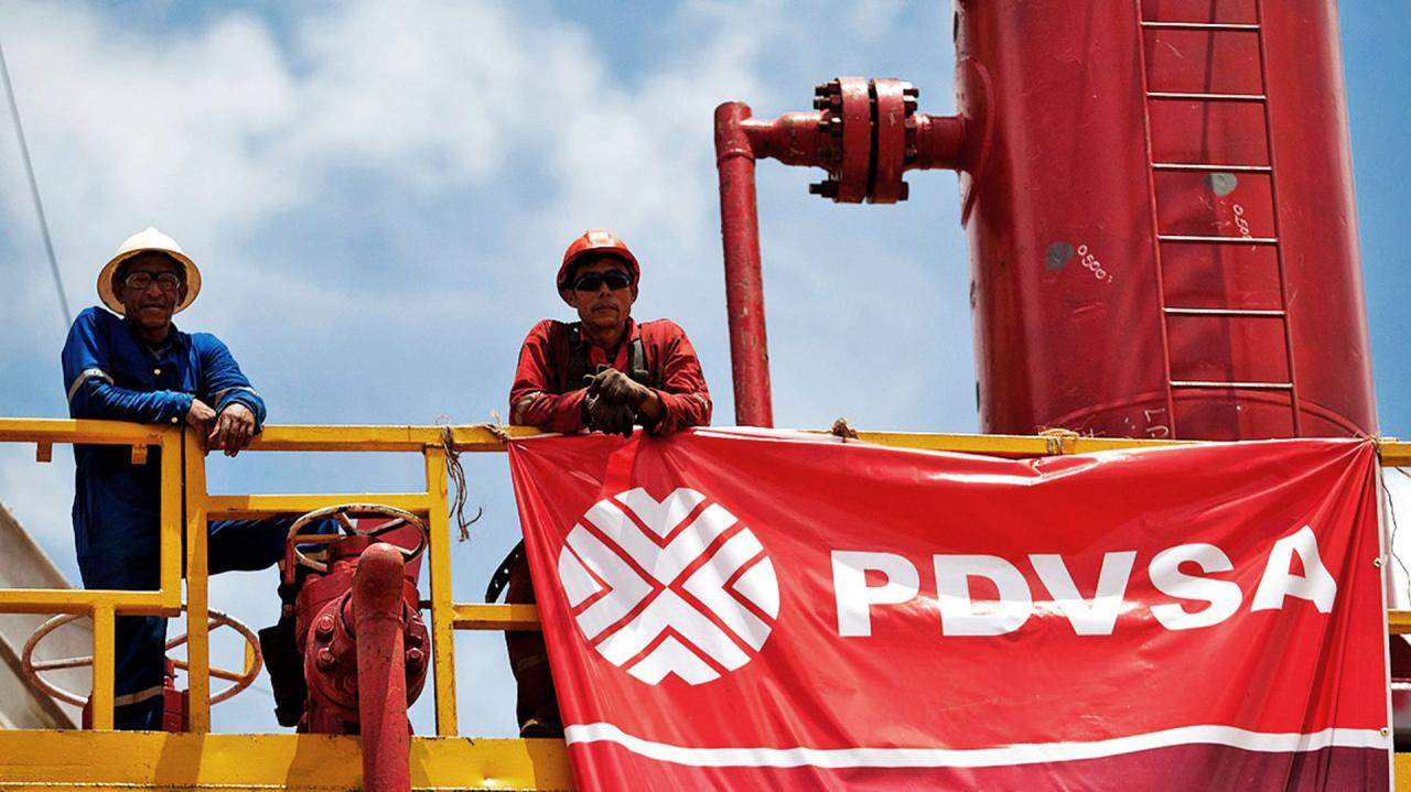 Una planta de PDVSA, Venezuela.
