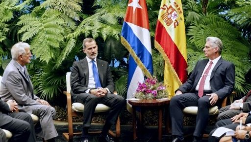 Encuentro de Felipe VI y Díaz-Canel.