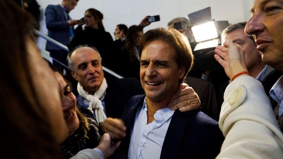 Luis Lacalle, candidato por el Partido Nacional.