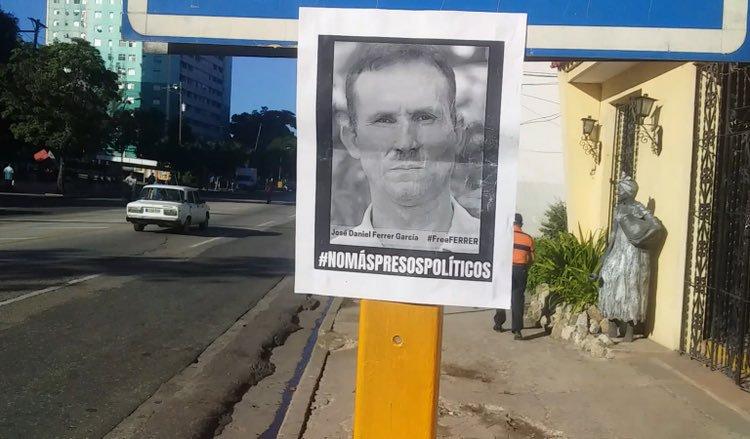 Campaña por la liberación de Ferrer en las calles de Santiago de Cuba.
