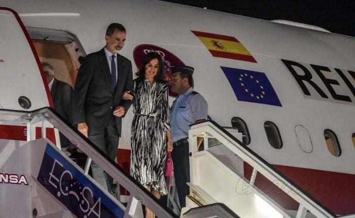 Los reyes de España a su llegada a La Habana.