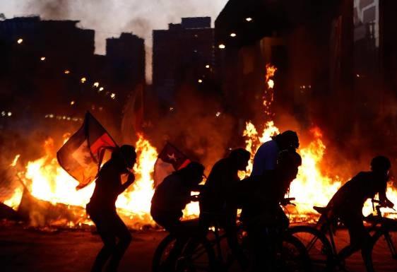 Incendios en Santigo de Chile.