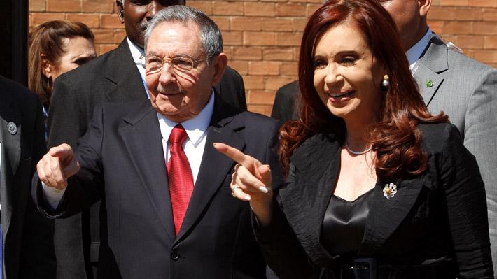 Raúl Castro y Cristina Fernández.