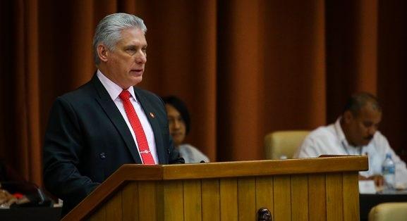 Díaz-Canel, ante la Asamblea Nacional del Poder Popular.