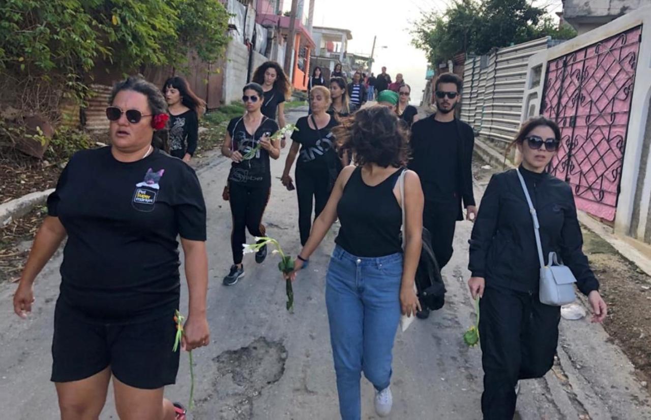 'Protesta silenciosa' en el barrio habanero de La Jata.
