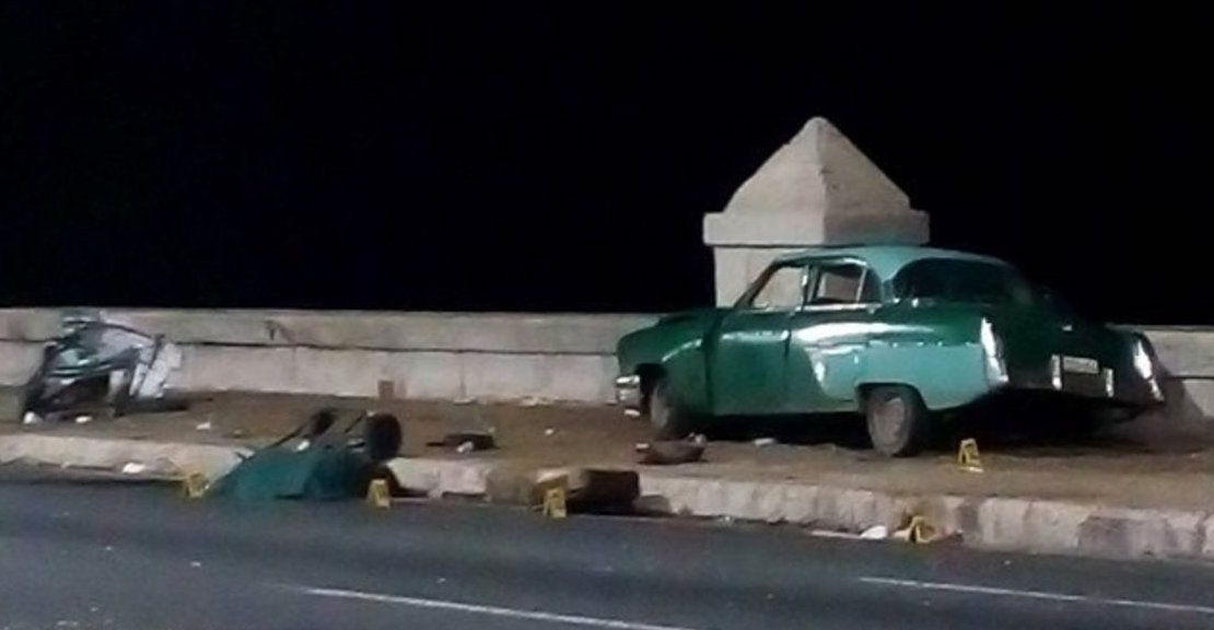 Lugar del accidente en La Habana.