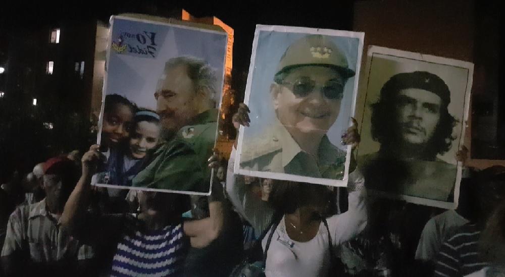 Escena del 'acto de repudio' en Santiago de Cuba.