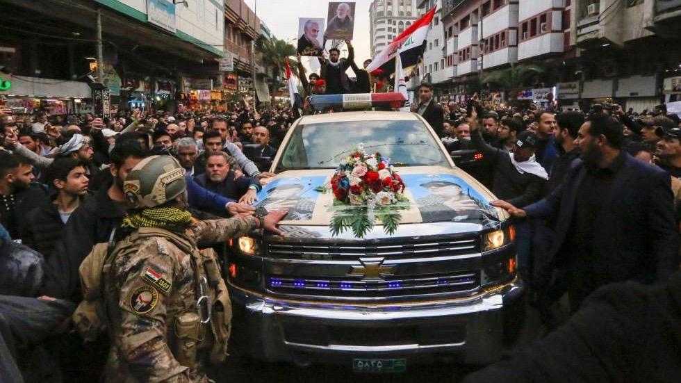 Funeral del general Soleimani en Bagdad.