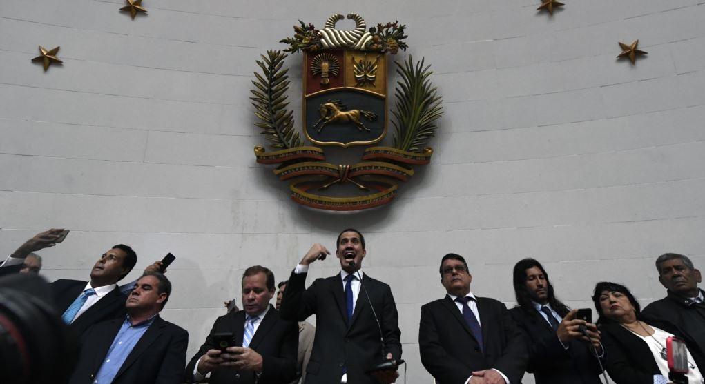 Juan Guaidó ante la Asamblea Nacional este martes.