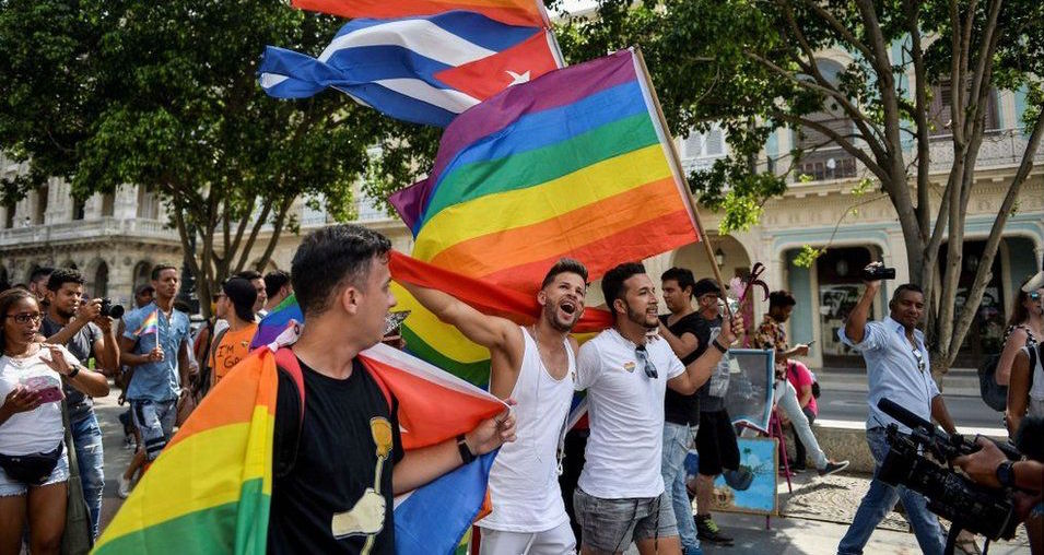 Independent LGBTI march in Havana, in May 2019.