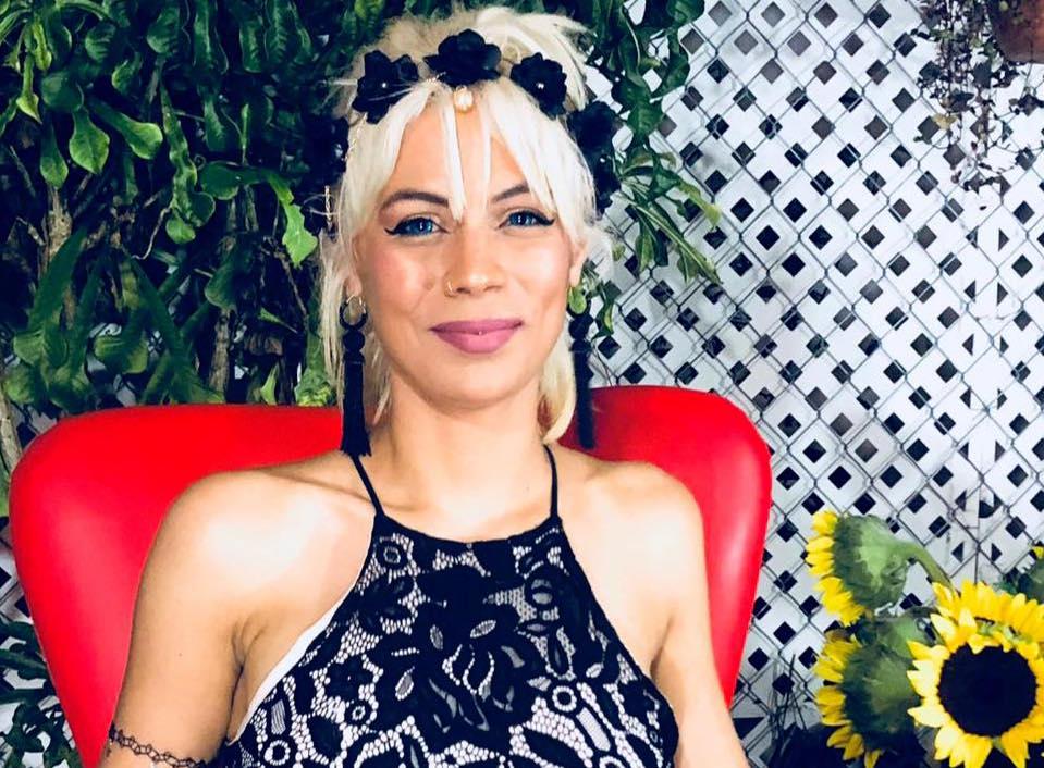 La activista Ana Olema.