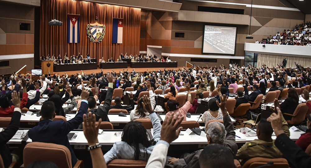 The Cuban legislature, in one of its sessions.