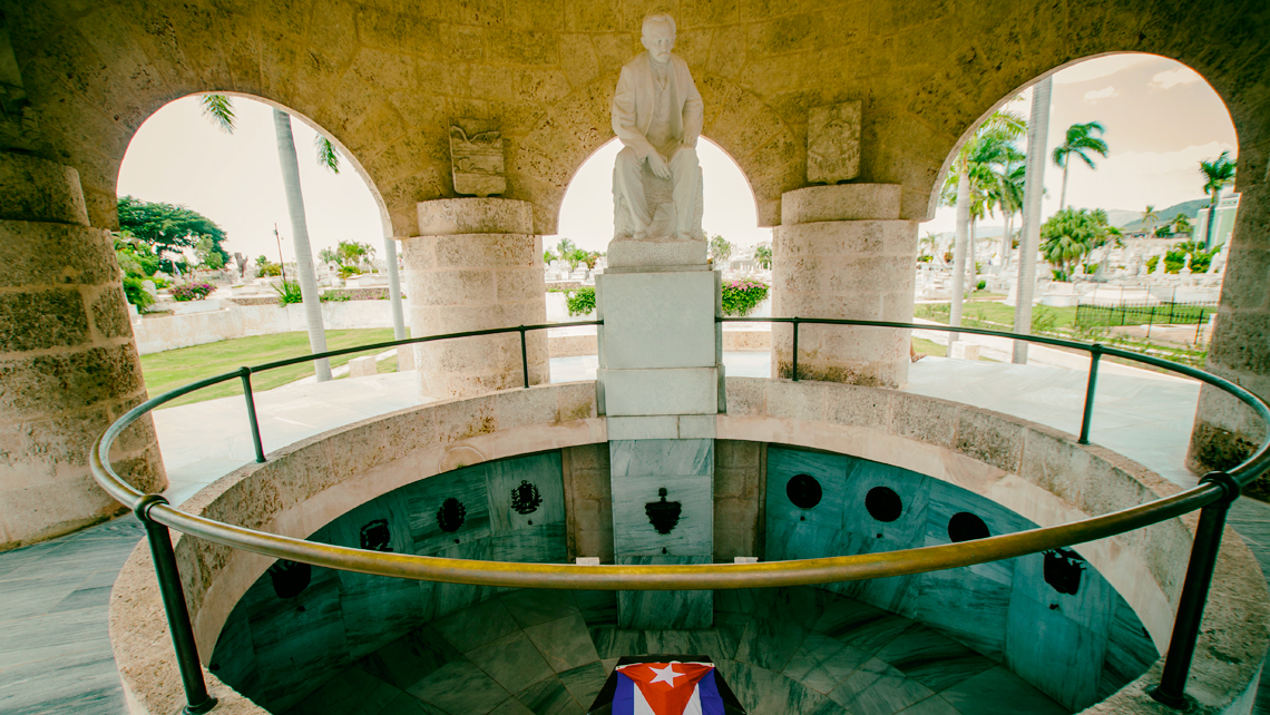 Mausoleo funerario de José Martí, Santa Ifigenia, Santiago de Cuba.