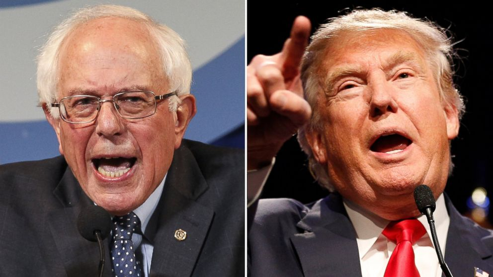 Bernie Sander y Donald Trump.