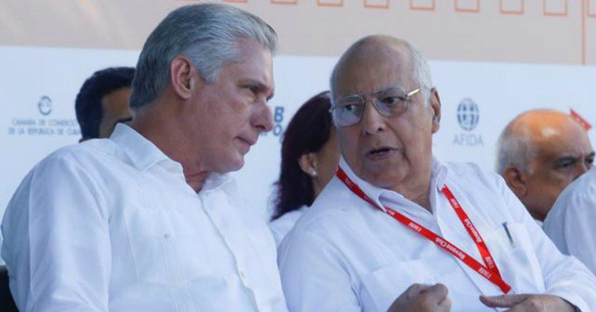 Miguel Díaz-Canel y Ricardo Cabrisas Ruiz, el viceprimer ministro cubano encargado de renegociar la deuda.