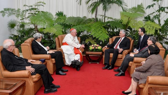 Califica Díaz-Canel de cordial y franco diálogo con Cardenal Dolan