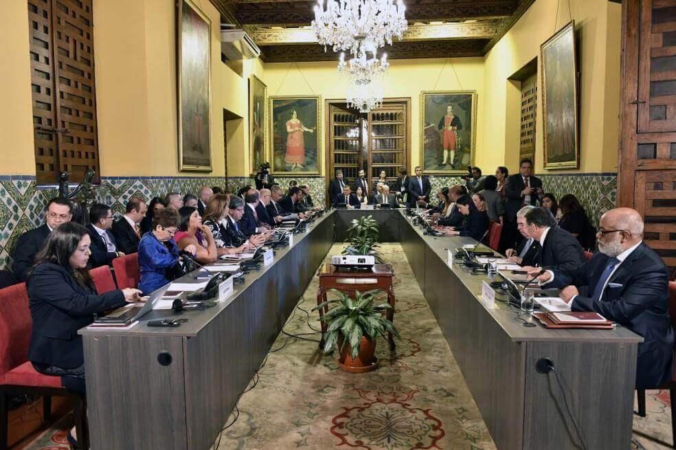 Una de las reuniones del Grupo de Lima.
