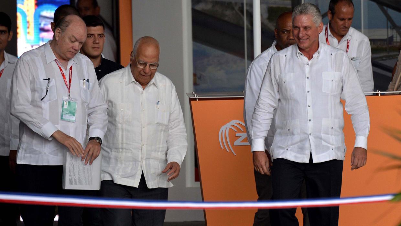 Rodrigo Malmierca, Ricardo Cabrisas y Miguel Díaz-CanelAFP