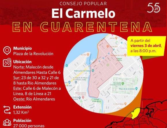 Incrementan aislamiento en zona de la capital de Cuba por Covid-19