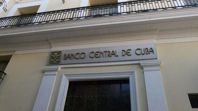 Oficina del Banco Central de Cuba.
