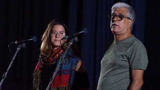 Vilar, junto a la documentalista Carla Valdés.