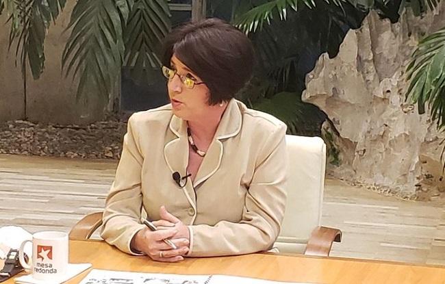 La ministra de Trabajo y Seguridad Social de Cuba, Marta Elena Feitó Cabrera.