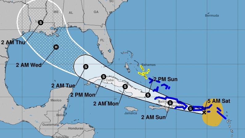 Clima: No solo es 'Marco', también está activa la Tormenta Tropical 'Laura'