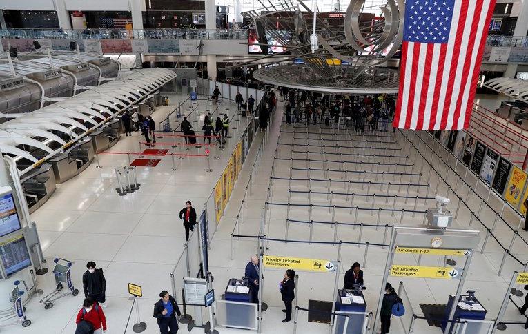 El aeropuerto JFK, de Nueva York, en medio de la pandemia.