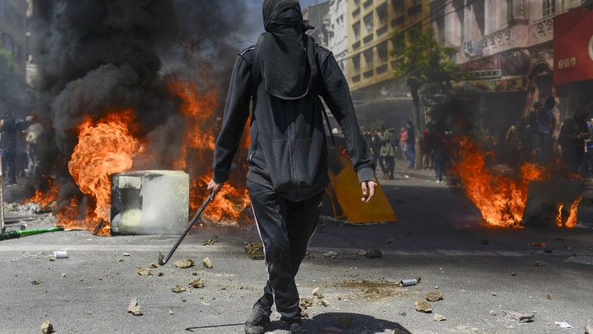 Disturbios violentos en Chile.