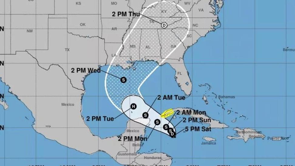 Se forma Depresión Tropical 28 cerca de Quintana Roo