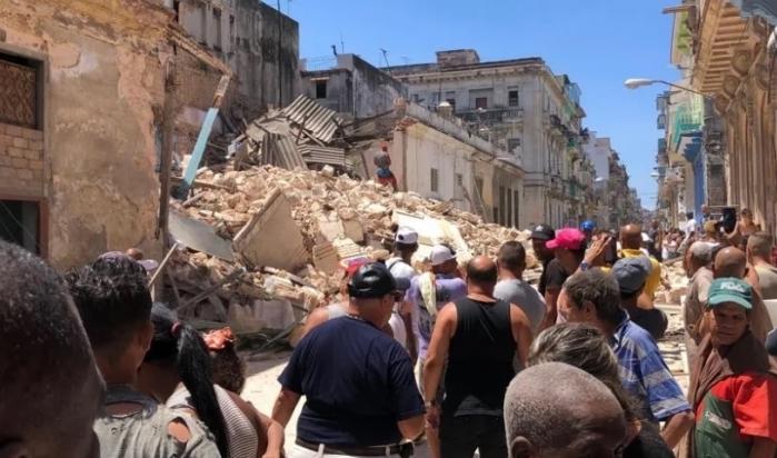Derrumbe de un edificio en Centro Habana, 2019.