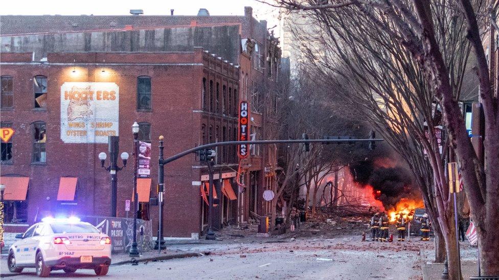 Un presunto acto terrorista interrumpe la Navidad en Nashville, EEUU    DIARIO DE CUBA