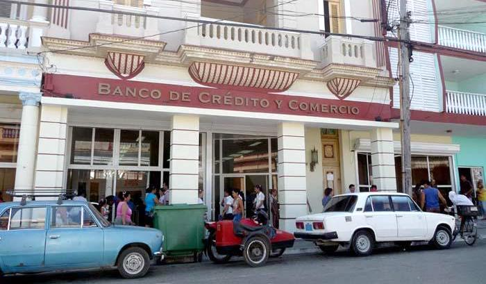 Branch of the Bank of Credit and Commerce of Cuba.