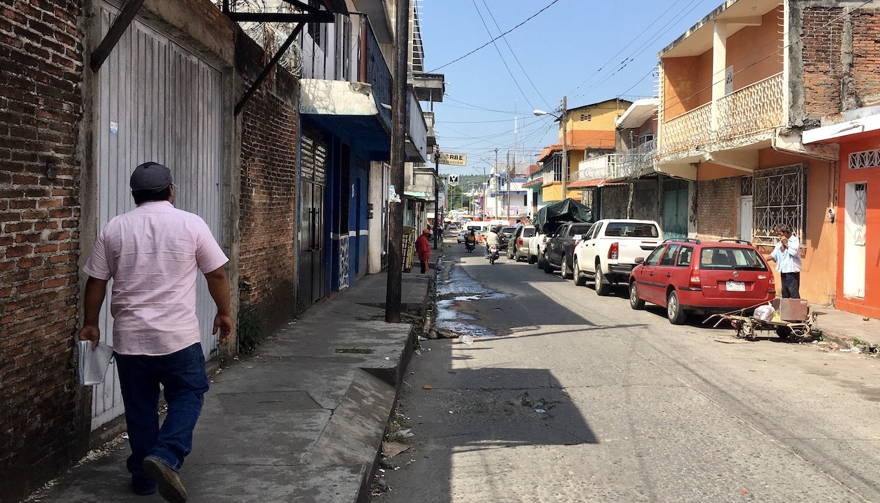 A street in Tapachula, Mexico.