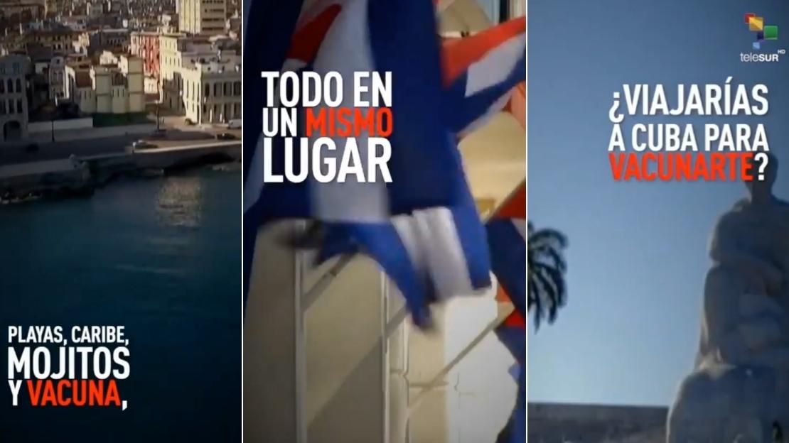 Publicidad de TeleSUR sobre Cuba.