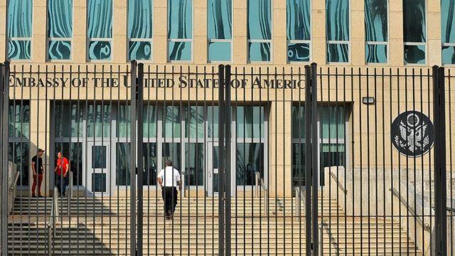 Embajada de EEUU en La Habana.