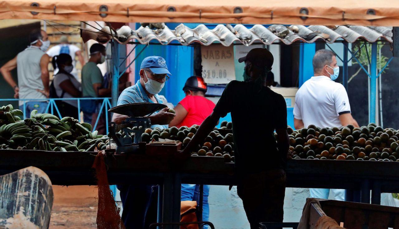 Punto de venta de productos agrícolas.