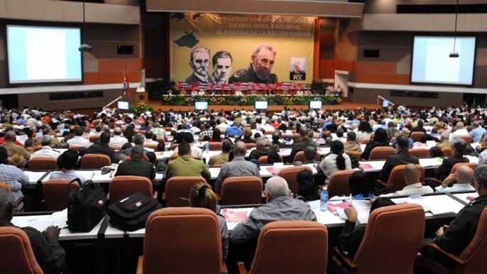 Sesión del VII Congreso del PCC.