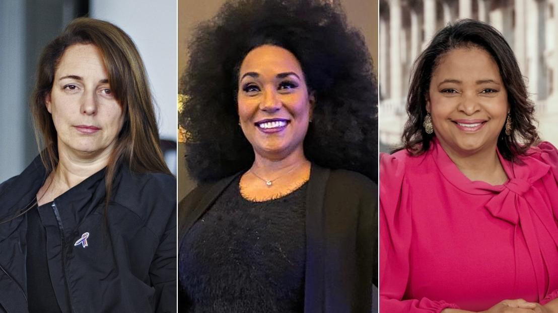 Tania Bruguera, Aymée Nuviola y Lori Montenegro.