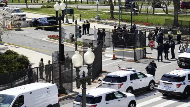 Despliegue policial en las afueras del Capitolio