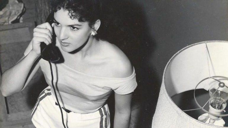Teté Machado en los años 50.
