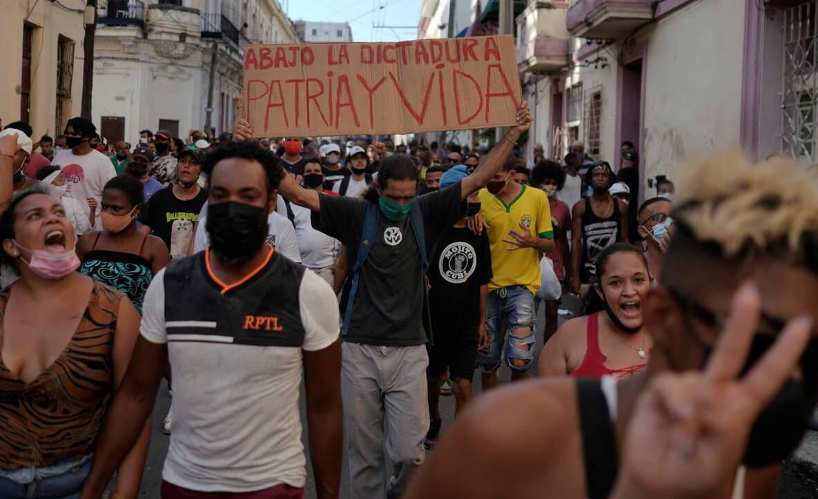 Protestas en las calles de La Habana, 11 de julio de 2021.