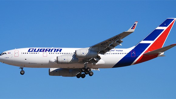 Vuelo de Cubana de Aviación.
