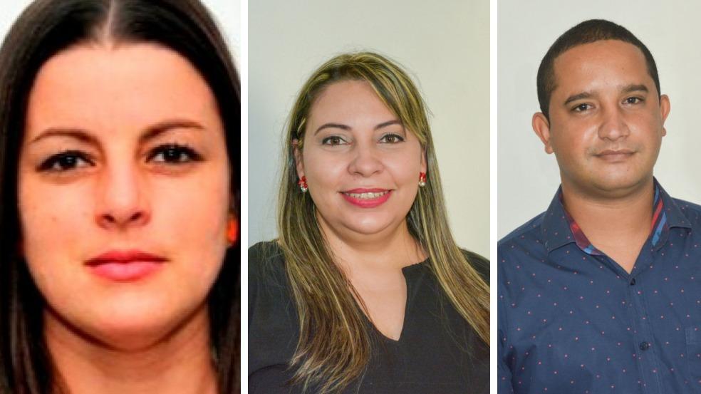 Aylín Álvarez García, Lisara Corona y Dilberto González.